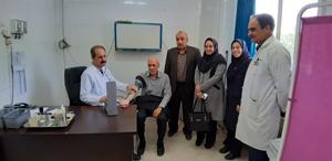 برپایی ایستگاه کنترل فشار خون در بیمارستان ها و مراکز درمانی شهرستان