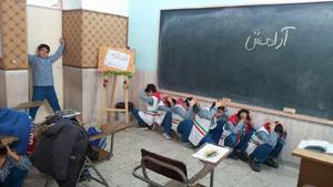 مانور زلزله در مدارس