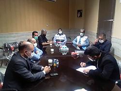 جلسه شورای سلامت روستای حسین آباد